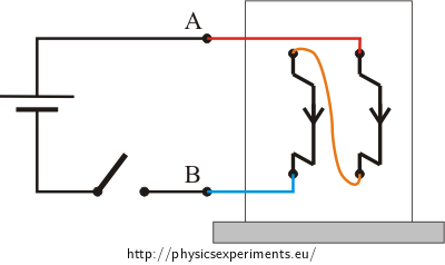 Fig. 2: Circuit diagram - current flows in the same direction