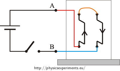 Fig. 3: Circuit diagram - current flows in the opposite direction